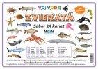 Súbor 24 veľkých kariet (A5)- zvieratá (vo vode)
