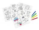 KRAJOLKA Puzzle omaľovanky s fixami