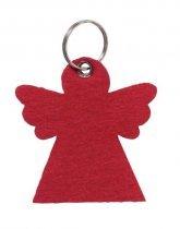 Plstený prívesok na kľúče, tvar anjela