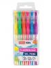 FLUO - zvýrazňovacie gélové perá - neónové farby -mix 6ks/sada