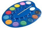 Vodové farby - maliarska paleta 12 farieb, priemer 4 cm