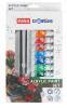 Akrylové farby set - 12 farieb, 2 štetce, paleta
