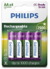 PHILIPS nabíjacie batérie 4x AA (1,2V), kapacita 2500mAh