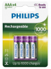 PHILIPS nabíjacie batérie 4x AAA (1,2V), kapacita 1000mAh