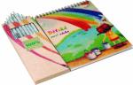 VERNICE eko sada omaľovaniek pre deti s 10 pastelkami z recyklovaných novín